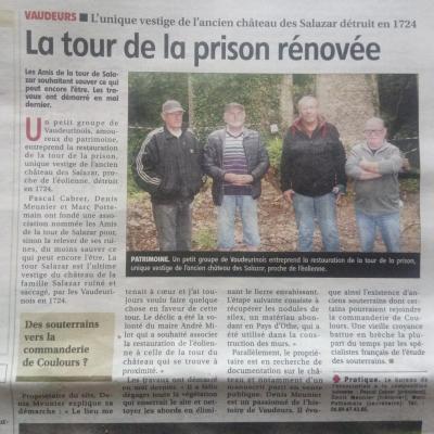 Article yonne republicaine tour salazar