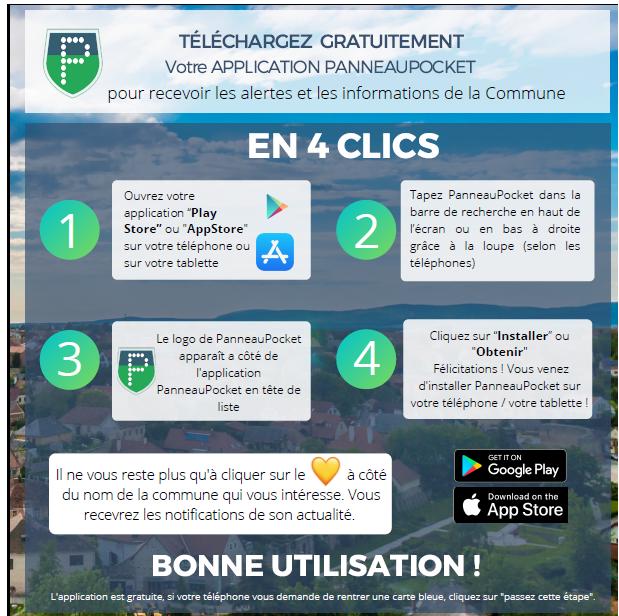 Panneau pocket telecharge appli 1